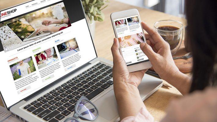 購物網站設計範例圖片